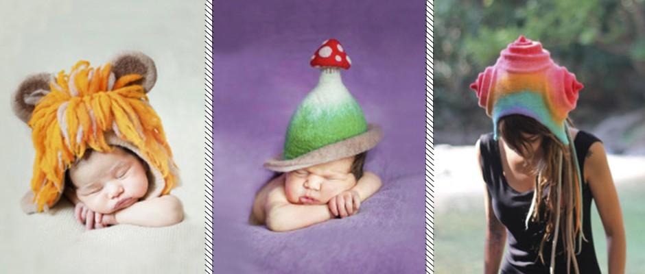 Renkli ve Şirin Keçe Şapkalar