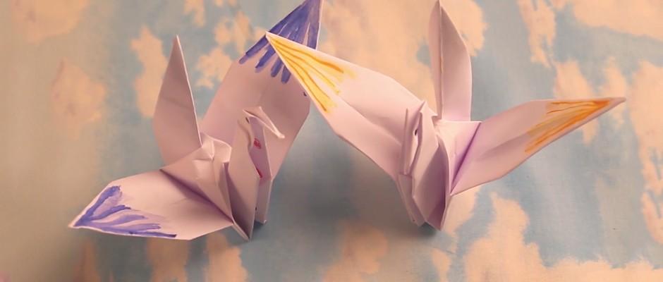 Kağıt Katlama Sanatı Origami - Turna Kuşu Yapılışı