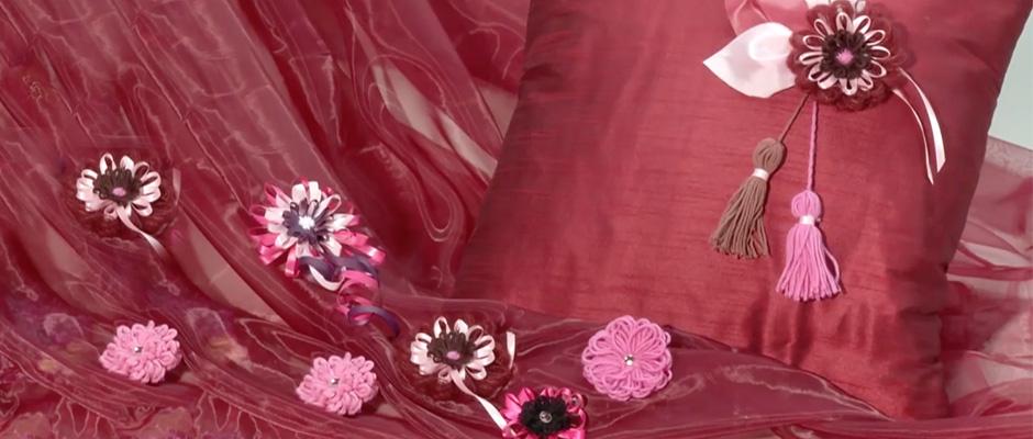 Prym Çiçek Şeklinde Motifmatik ile Yastık Süsleme