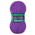 Kartopu 5 Pack Super Perle Knitting Yarn, Purple - K718