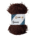 Kartopu Yumos Eyelash Yarn, Brown - K890