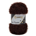 Kartopu 5 Skeins Simli Kristal Sparkle Knitting Yarn, Brown - K890