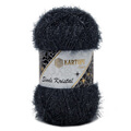 Kartopu 5 Skeins Simli Kristal Sparkle Knitting Yarn, Black - K1003