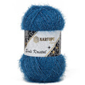 Kartopu 5 Skeins Simli Kristal Sparkle Knitting Yarn, Blue - K522