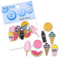 Dress It Up Creative Button Assortment, Snack Attack - 4756