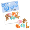Dress It Up Creative Button Assortment, Baby Safari - 6962