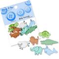 Kartopu Yavru Hayvanlar Dekoratif Düğme - 5171