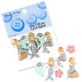 Dress It Up Creative Button Assortment, Splish Splash - 6556