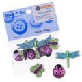 Dress It Up Creative Button Assortment, Glitter Bugs - 4430