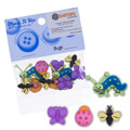 Dress It Up Creative Button Assortment, Daisy Faces - 588