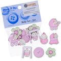 Dress It Up Creative Button Assortment, Baby Fun, Girl - 5195