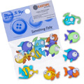Dress It Up Creative Button Assortment, Fishes - 6952