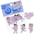 Dress It Up Creative Button Assortment, Little Ballerinas - 6954