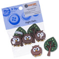 Dress It Up Creative Button Assortment, Night Owls - 5816