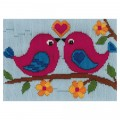 Duftin Lovebird Duo Picture Longstitch Kit - FLS579873-AA0346