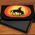 Duftin Stitch-Art Cowboy Motif Tablet Case Cross Stitch Kit - 19642-AA0364