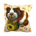 Collection D'art Guinea Pig Cushion Panel Kit, 40x40 cm