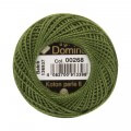 Domino Cotton Perle Size 8 Embroidery Thread (8 g), Green - 4598008-00268