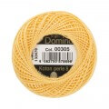 Domino Cotton Perle Size 8 Embroidery Thread (8 g), Yellow - 4598008-00305