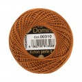 Domino Cotton Perle Size 8 Embroidery Thread (8 g), Brown - 4598008-00310