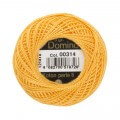 Domino Cotton Perle Size 8 Embroidery Thread (8 g), Yellow - 4598008-00314