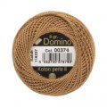 Domino Cotton Perle Size 8 Embroidery Thread (8 g), Brown - 4598008-00374