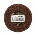 Domino Cotton Perle Size 8 Embroidery Thread (8 g), Brown - 4598008-00380