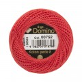 Domino Cotton Perle Size 8 Embroidery Thread (8 g), Red - 4598008-00752