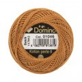 Domino Cotton Perle Size 8 Embroidery Thread (8 g), Brown - 4598008-01046