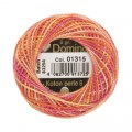 Domino Cotton Perle Size 8 Embroidery Thread (8 g), Variegated - 4598008-01315