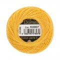 Domino Cotton Perle Size 8 Embroidery Thread (8 g), Yellow - 4598008-K0007