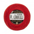 Domino Cotton Perle Size 8 Embroidery Thread (8 g), Red - 4598008-K0008