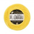 Domino Cotton Perle Size 8 Embroidery Thread (8 g), Yellow - 4598008-K0011