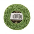 Domino Cotton Perle Size 8 Embroidery Thread (8 g), Green - 4598008-K0021