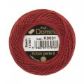 Domino Cotton Perle Size 8 Embroidery Thread (8 g), Red - 4598008-K0031