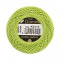 Domino Cotton Perle Size 8 Embroidery Thread (8 g), Green - 4598008-K0117