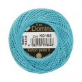 Domino Cotton Perle Size 8 Embroidery Thread (8 g), Blue - 4598008-K0195