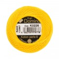 Domino Cotton Perle Size 8 Embroidery Thread (8 g), Orange - 4598008-K0226