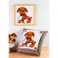 Permin 24x24 Köpek Desenli Yastık Etamin Kiti - 121162