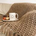 Gazzal Pure Wool Kahverengi El Örgü İpi - 5246