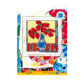 RTO Baltic 16 x 16.5 cm Cross Stitch Kit, Red Flowers - M476