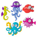 Dress It Up Creative Button Assortment, Creatures Of The Sea - 8298