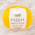 Gazzal Baby Cotton Knitting Yarn, Mustard Yellow - 3417