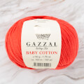 Gazzal Baby Cotton Knitting Yarn, Light Red - 3418