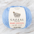 Gazzal Baby Cotton Knitting Yarn, Light Blue - 3423