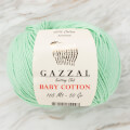 Gazzal Baby Cotton Knitting Yarn, Pale Green - 3425
