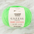 Gazzal Baby Cotton Knitting Yarn, Light Green - 3427