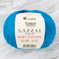 Gazzal Baby Cotton Knitting Yarn, Blue - 3428