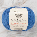 Gazzal Baby Cotton Knitting Yarn, Blue - 3431