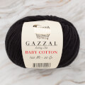 Gazzal Baby Cotton Knitting Yarn, Black - 3433